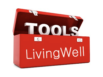 Toolbox with Living Well written on the side